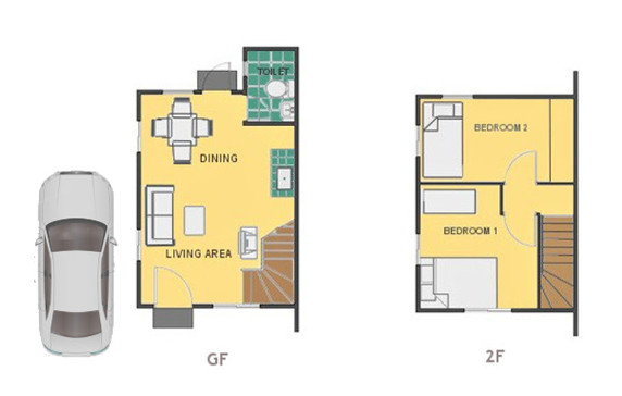 Mika Floor Plan House and Lot in Sagay