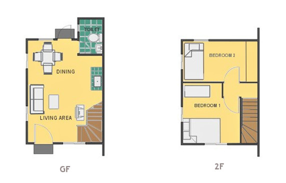 Mikaela Floor Plan House and Lot in Sagay