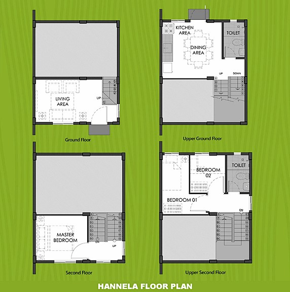 Hannela Floor Plan House and Lot in Sagay