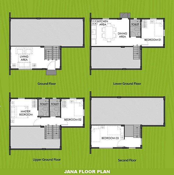 Janna Floor Plan House and Lot in Sagay