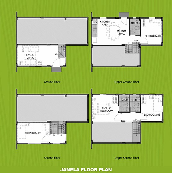 Janela Floor Plan House and Lot in Sagay