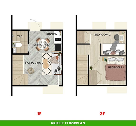 Arielle Floor Plan House and Lot in Sagay