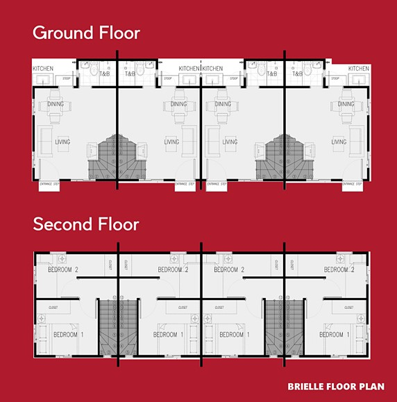 Brielle Floor Plan House and Lot in Sagay