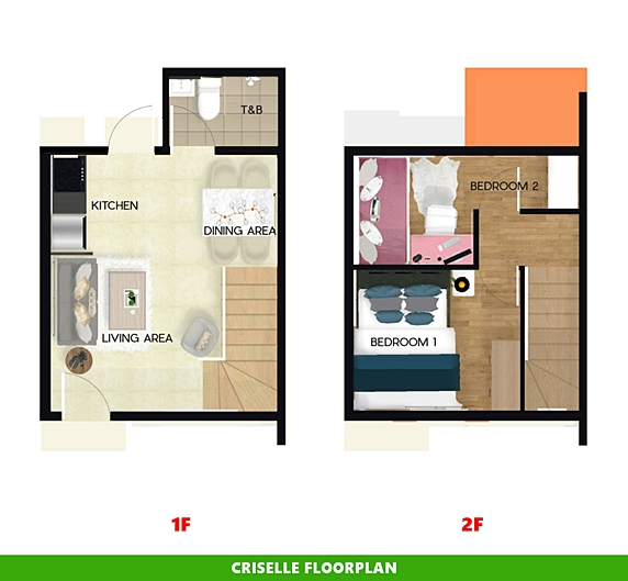 Criselle Floor Plan House and Lot in Sagay