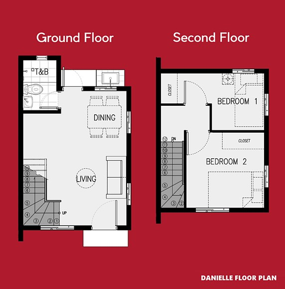 Danielle Floor Plan House and Lot in Sagay
