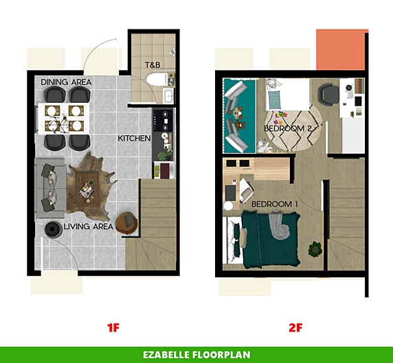 Ezabelle Floor Plan House and Lot in Sagay