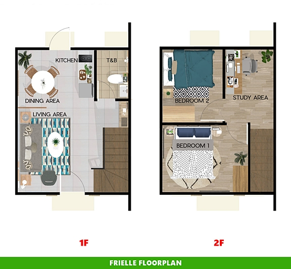 Frielle Floor Plan House and Lot in Sagay